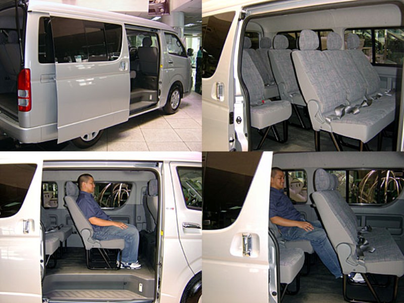 هایس  15 نفره   نمای داخلی                                (TOYOTA HIACE-lowroof vehicle 14 persons( in car