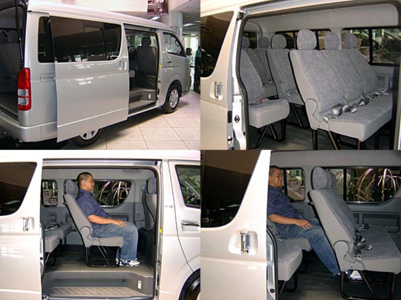 هایس  15 نفره   نمای داخلی                                (TOYOTA HIACE-lowroof vehicle 14 persons( in car